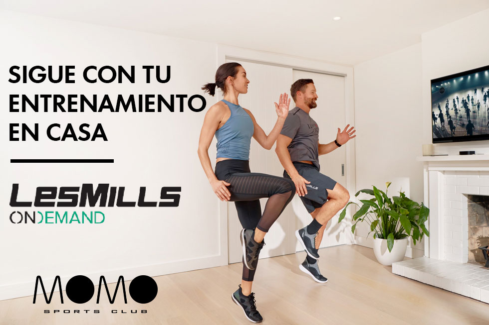ENTRENA EN CASA CON LES MILLS ON DEMAND Y MOMO