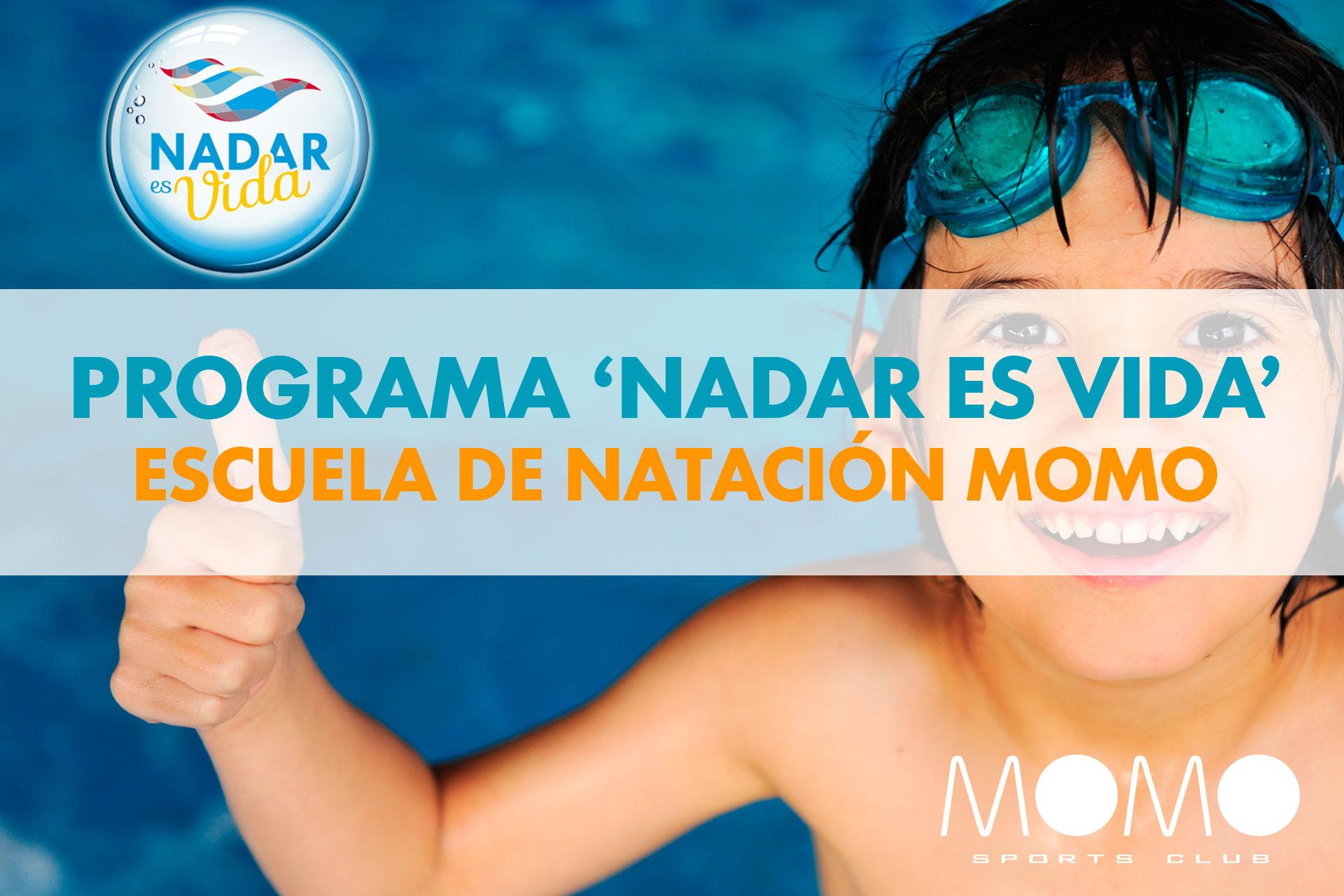 La escuela de natación MOMO se adhiere al programa Nadar es Vida