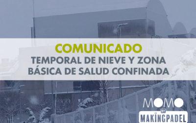 COMUNICADO CIERRE TEMPORAL MOMO BY MAKING PADEL